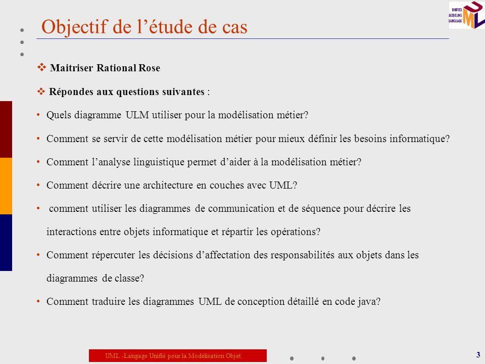 Objectif de l'étude de cas