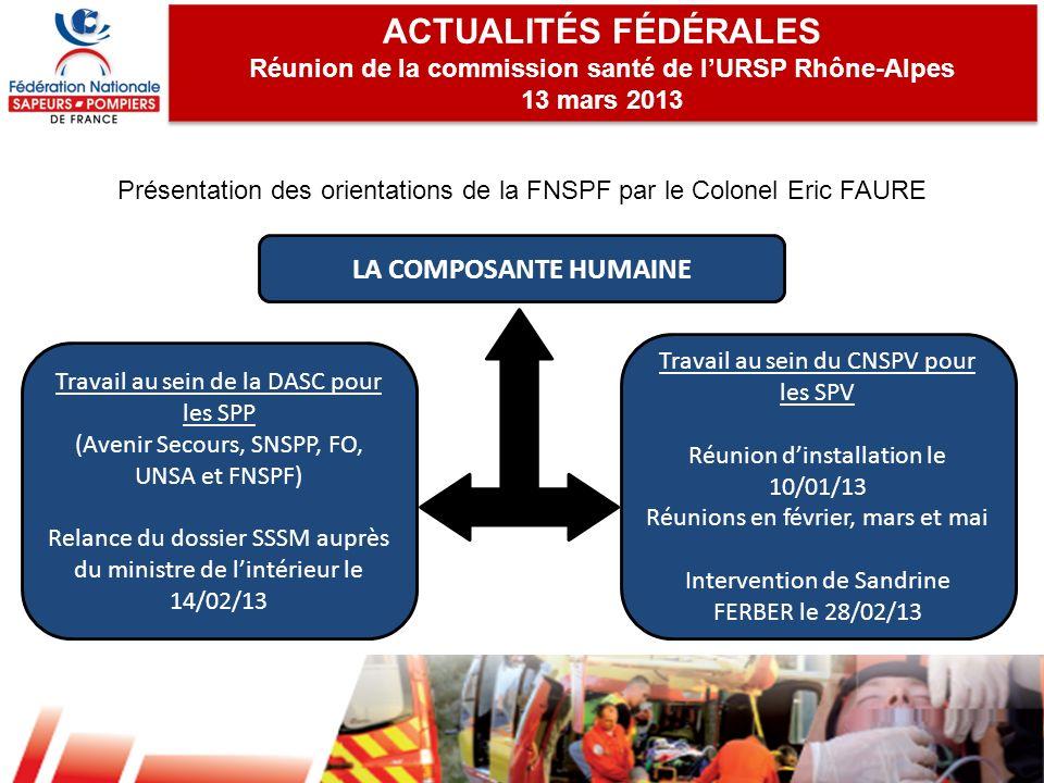 Réunion de la commission santé de l'URSP Rhône-Alpes