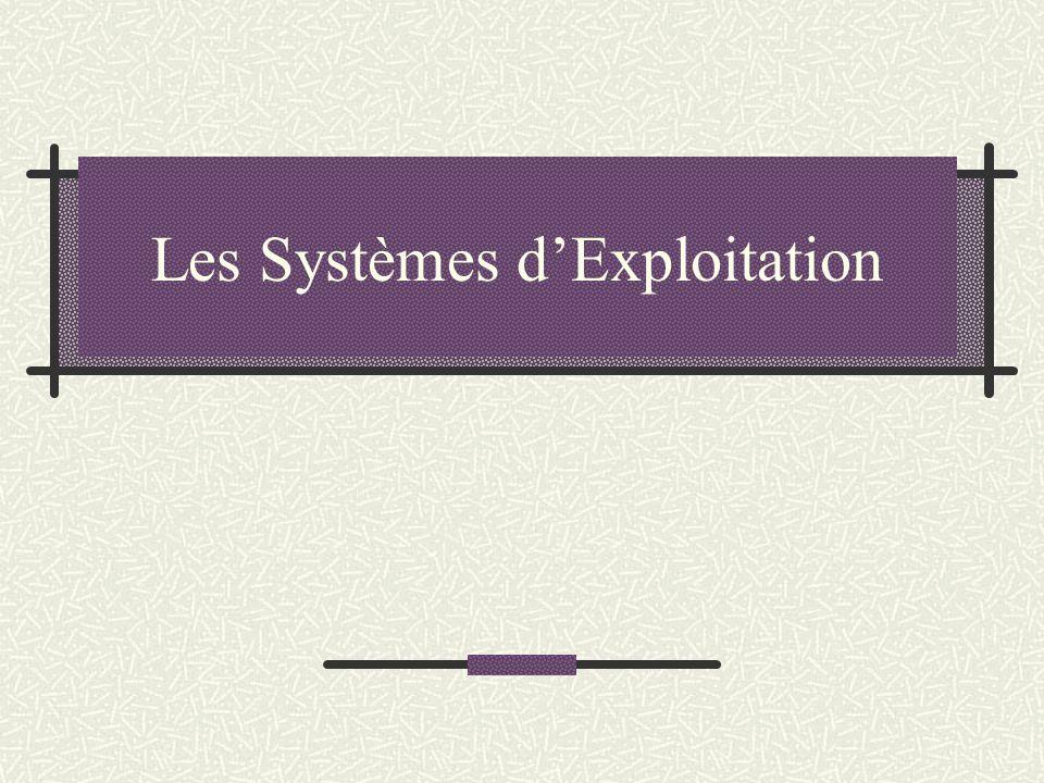 Les Systèmes d'Exploitation