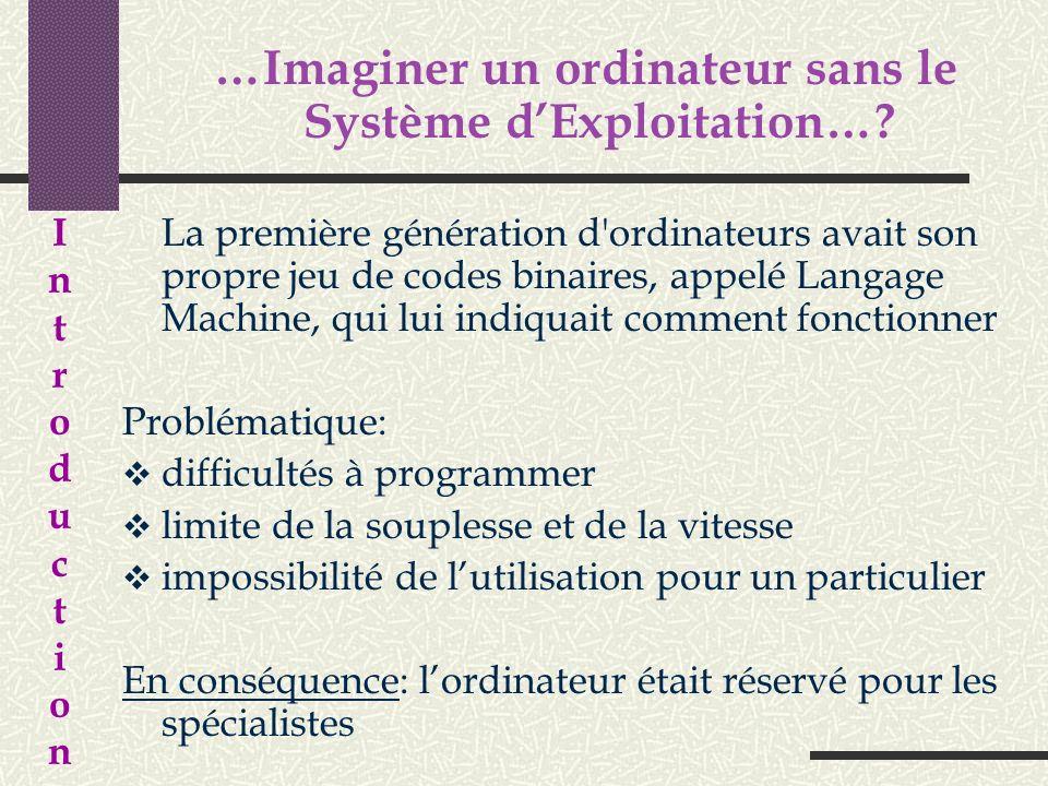 …Imaginer un ordinateur sans le Système d'Exploitation…