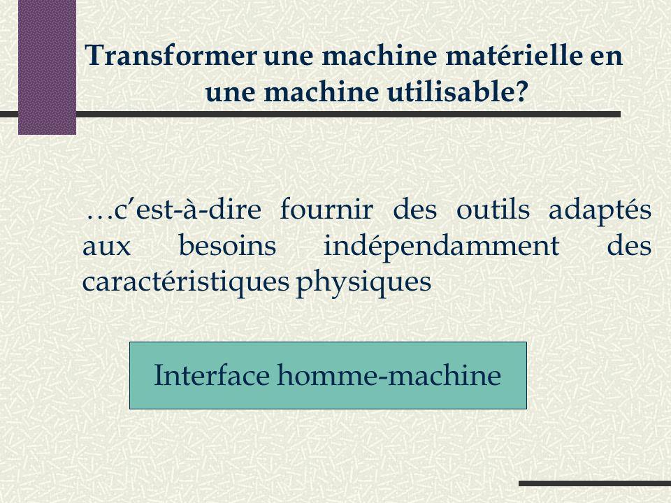 Transformer une machine matérielle en une machine utilisable