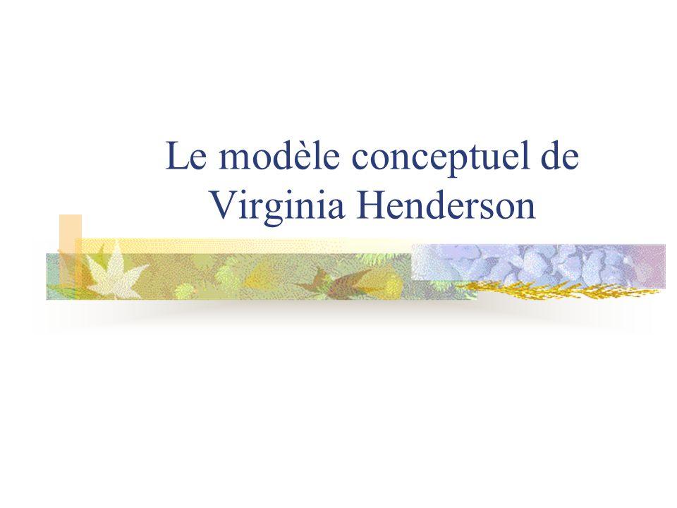 Le modèle conceptuel de Virginia Henderson
