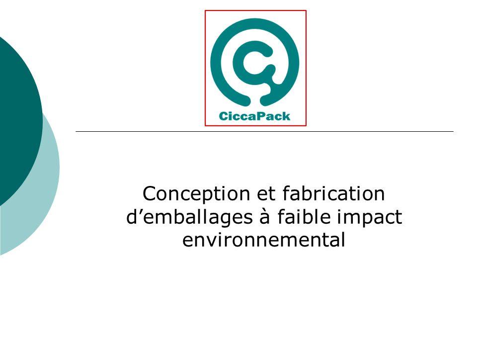 Conception et fabrication d'emballages à faible impact environnemental