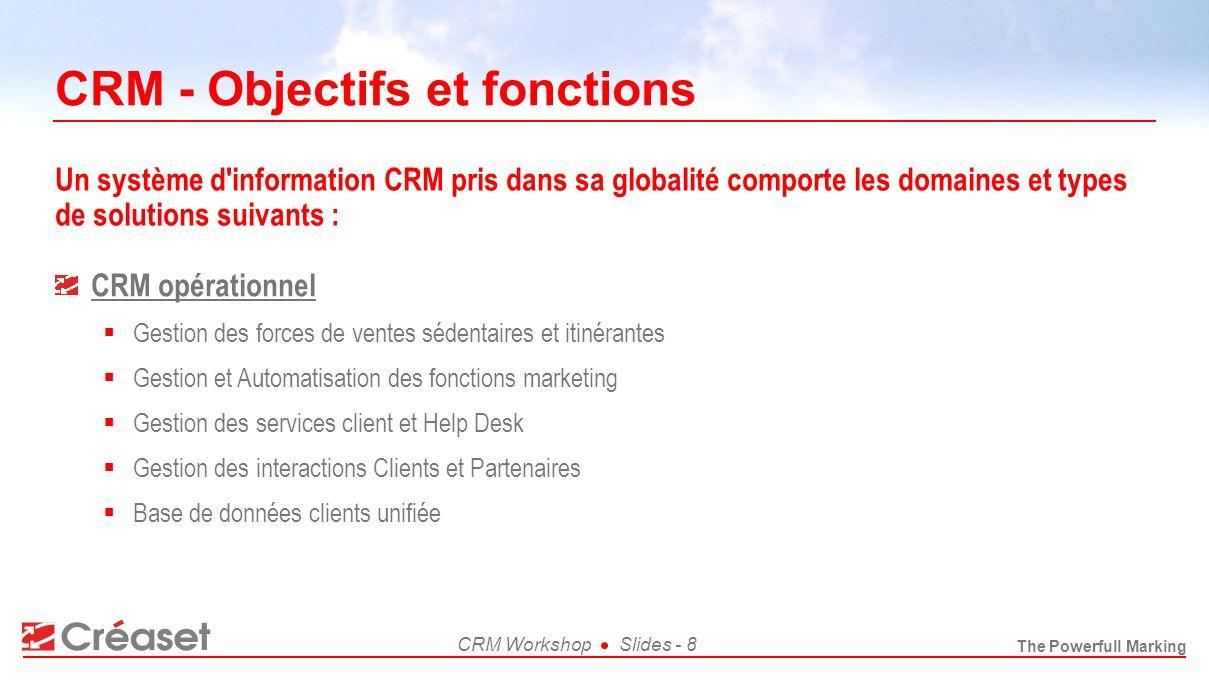 CRM - Objectifs et fonctions