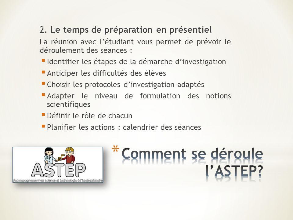 Comment se déroule l'ASTEP