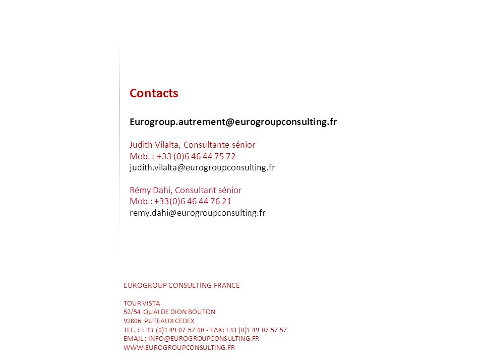 EUROGROUP CONSULTING FRANCE