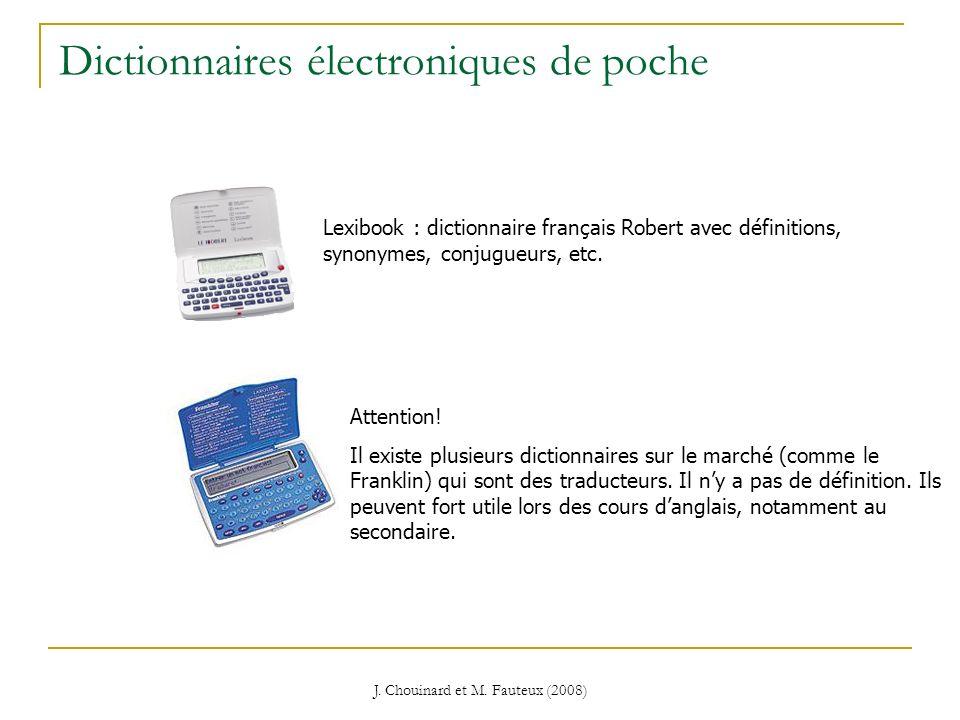 Dictionnaires électroniques de poche