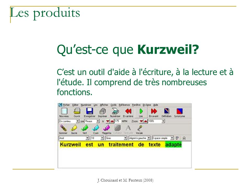 J. Chouinard et M. Fauteux (2008)