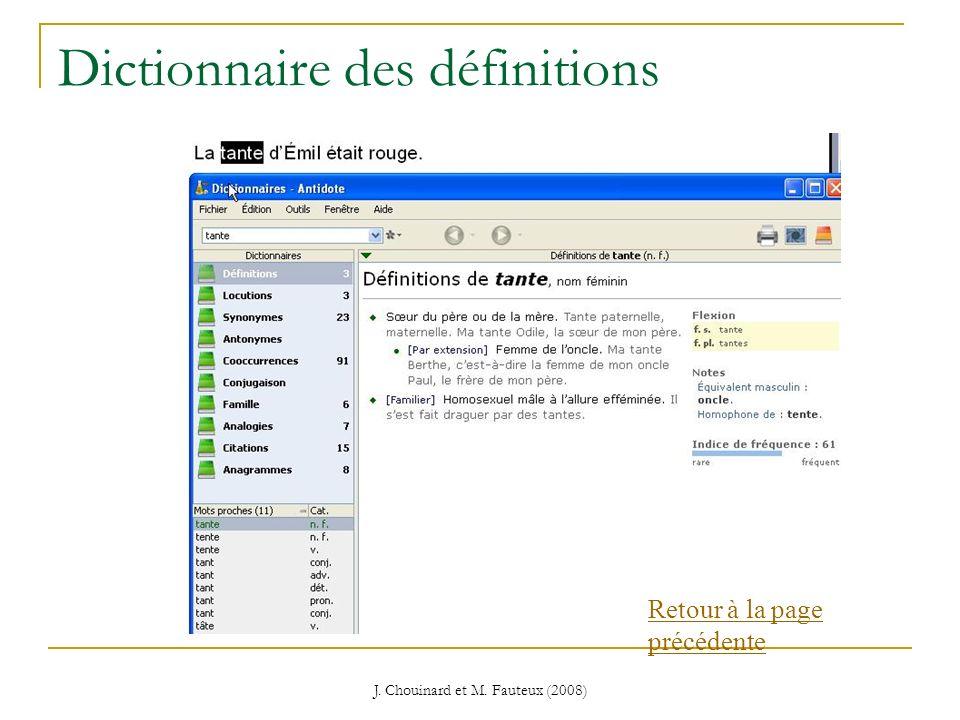 Dictionnaire des définitions