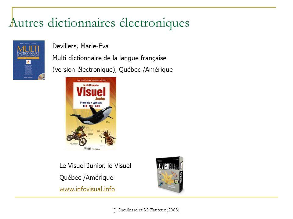 Autres dictionnaires électroniques