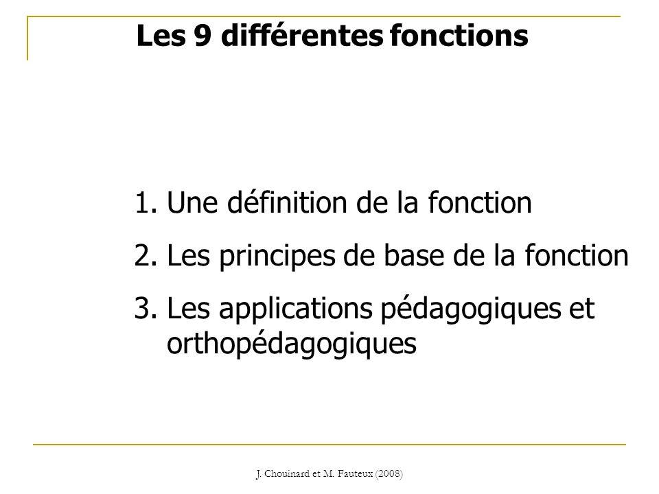Les 9 différentes fonctions