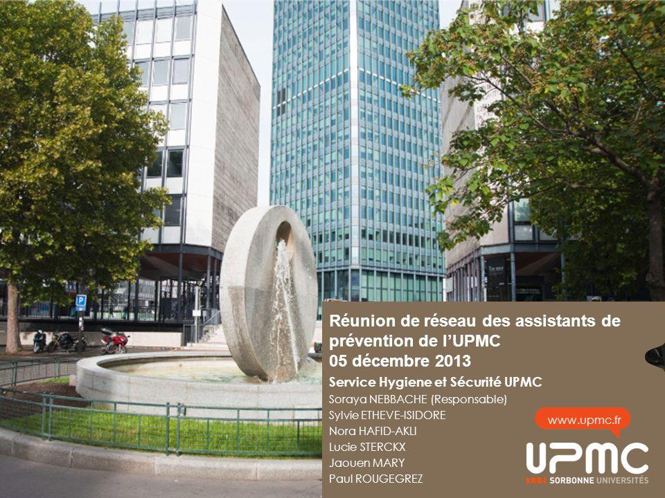 Réunion de réseau des assistants de prévention de l'UPMC