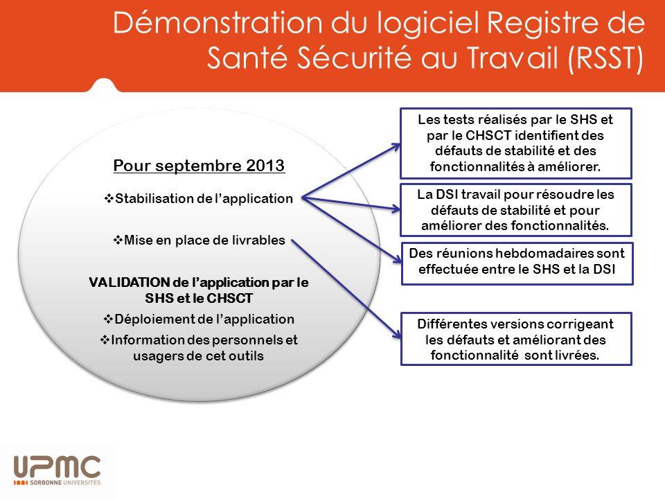 Démonstration du logiciel Registre de Santé Sécurité au Travail (RSST)