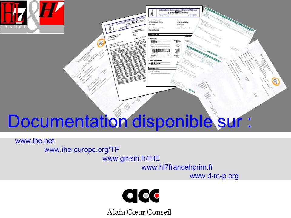 Documentation disponible sur :