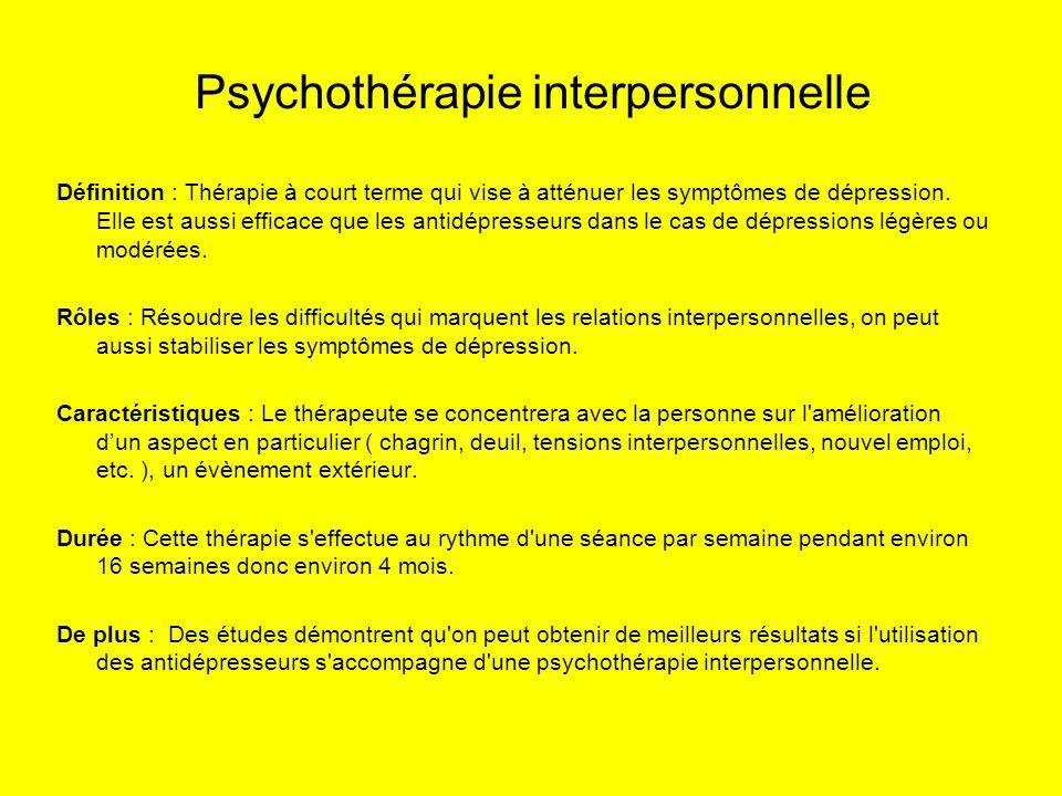 Psychothérapie interpersonnelle