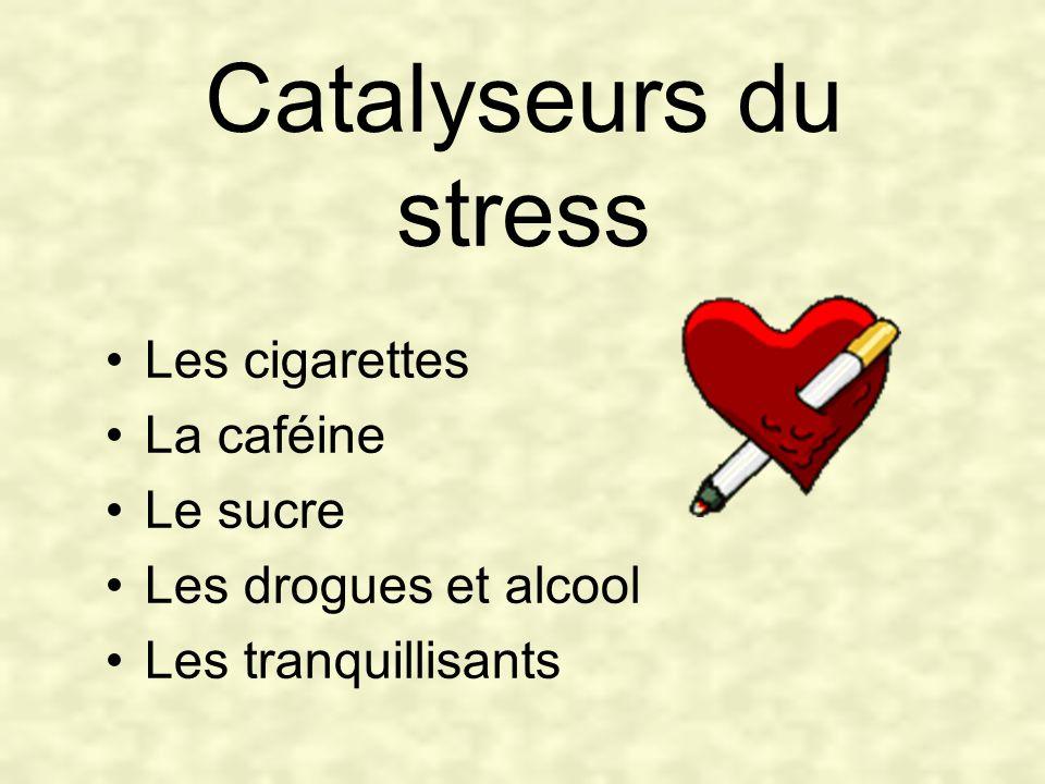 Catalyseurs du stress Les cigarettes La caféine Le sucre