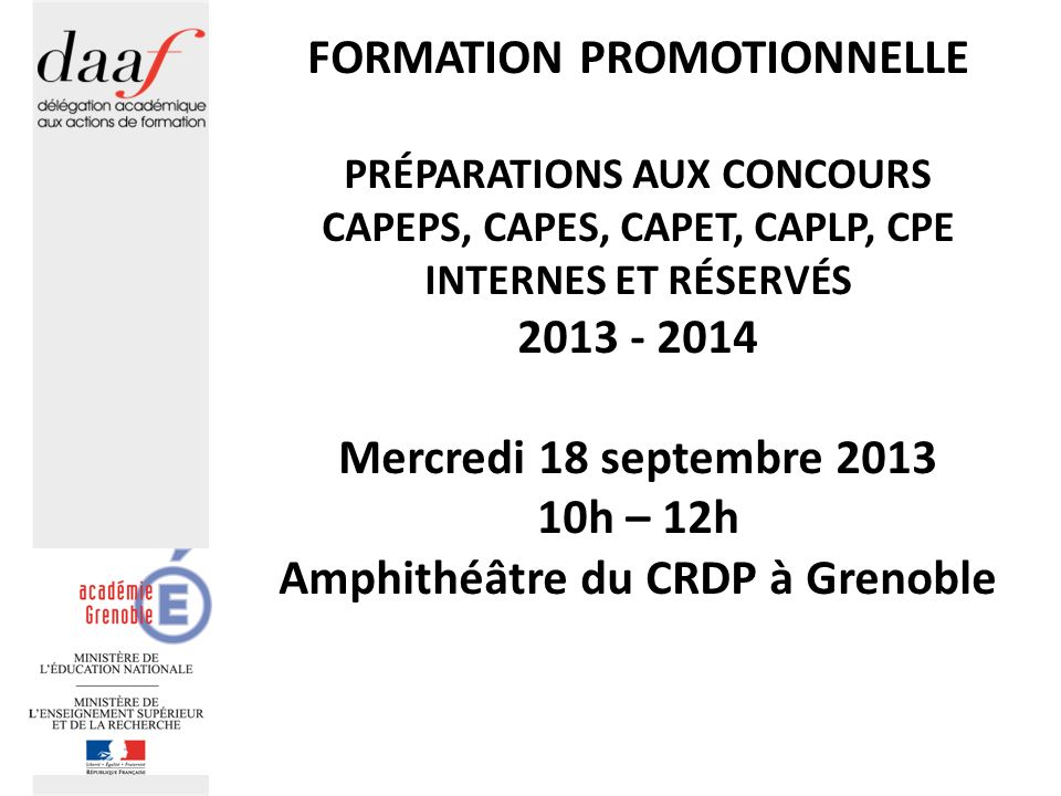 FORMATION PROMOTIONNELLE