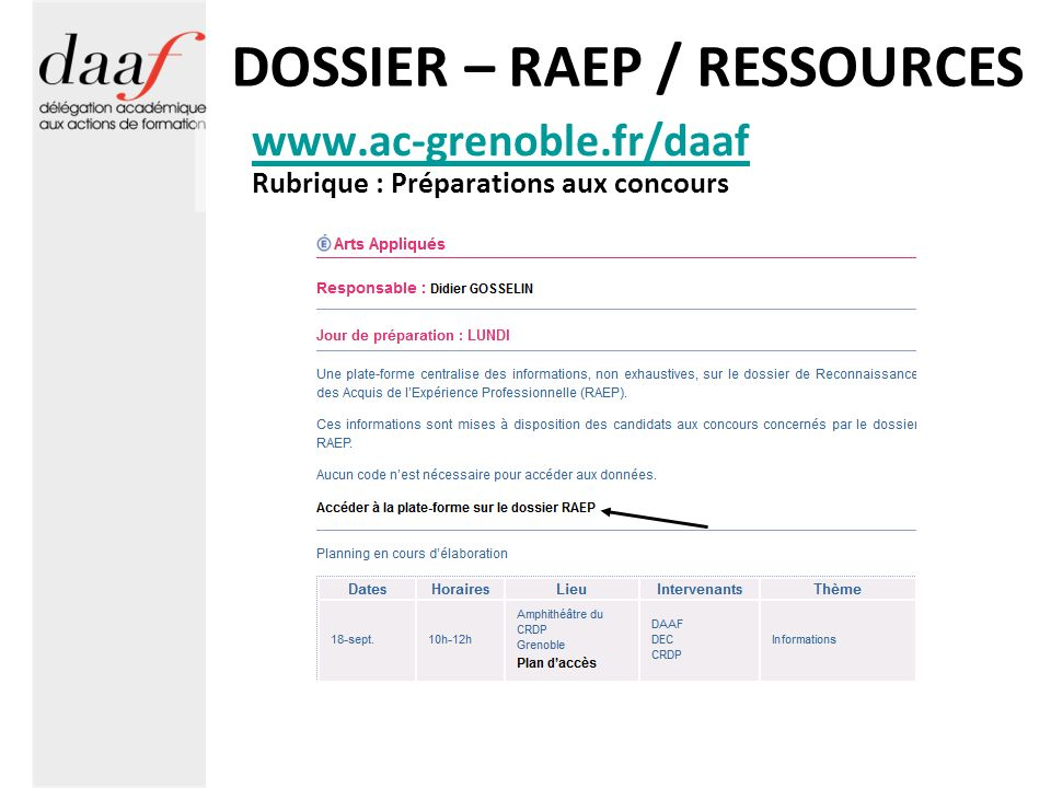 DOSSIER – RAEP / RESSOURCES