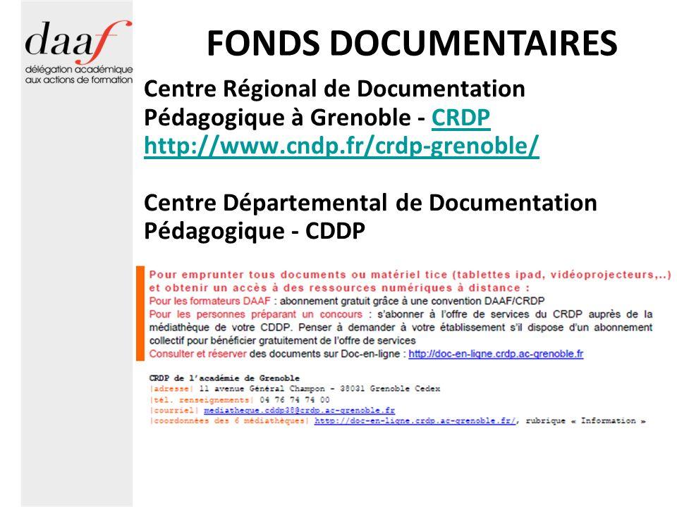 FONDS DOCUMENTAIRES Centre Régional de Documentation Pédagogique à Grenoble - CRDP. http://www.cndp.fr/crdp-grenoble/