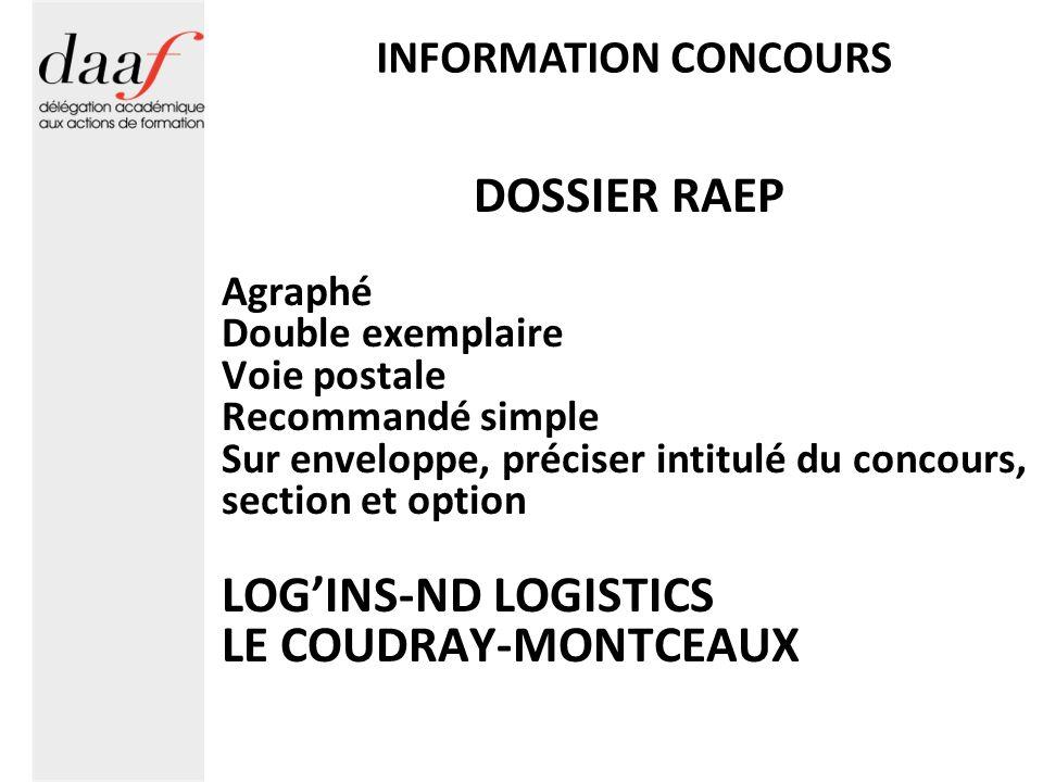 DOSSIER RAEP LOG'INS-ND LOGISTICS LE COUDRAY-MONTCEAUX