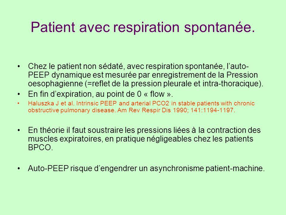 Patient avec respiration spontanée.