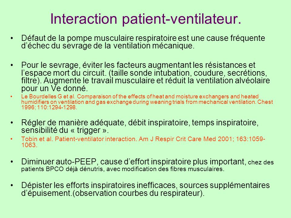Interaction patient-ventilateur.