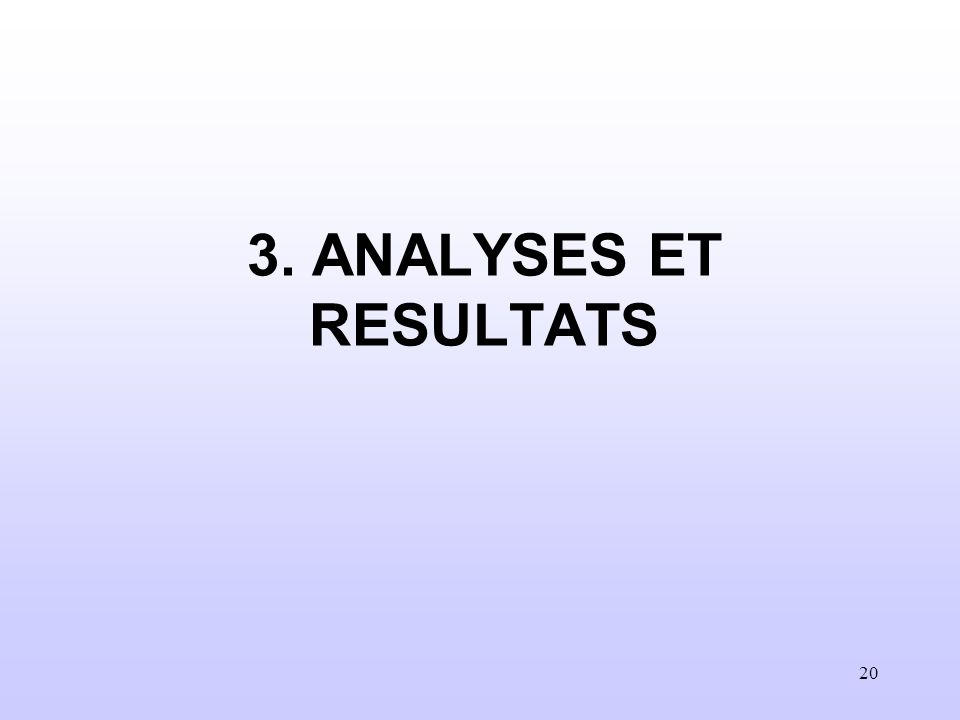 3. ANALYSES ET RESULTATS