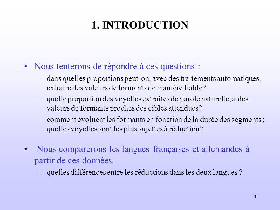 1. INTRODUCTION Nous tenterons de répondre à ces questions :
