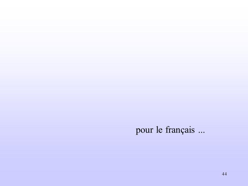 pour le français ...