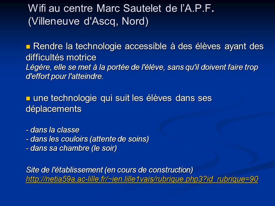 Wifi au centre Marc Sautelet de l'A.P.F. (Villeneuve d Ascq, Nord)