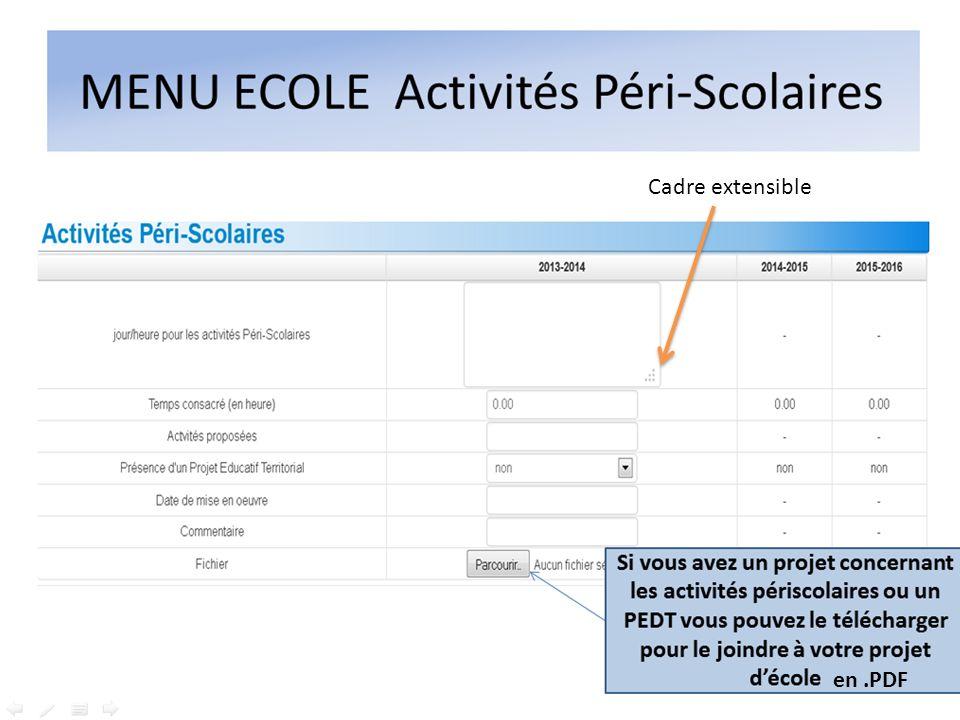 Cadre extensible en .PDF