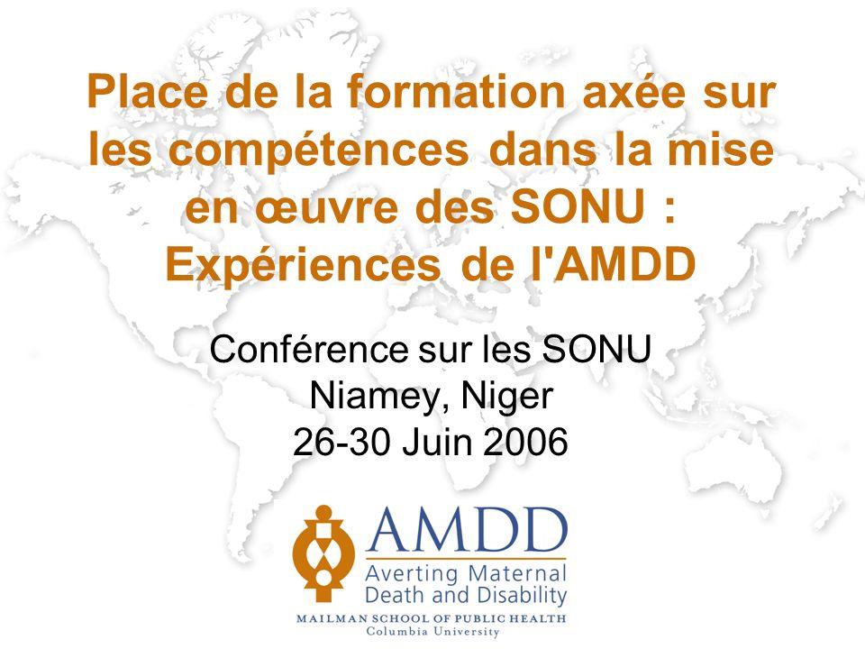 Conférence sur les SONU Niamey, Niger 26-30 Juin 2006