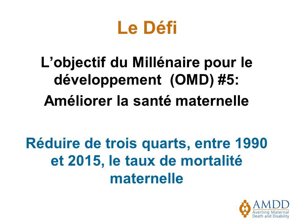 Le Défi L'objectif du Millénaire pour le développement (OMD) #5: