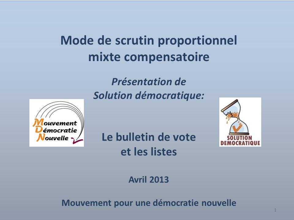 Mode de scrutin proportionnel mixte compensatoire
