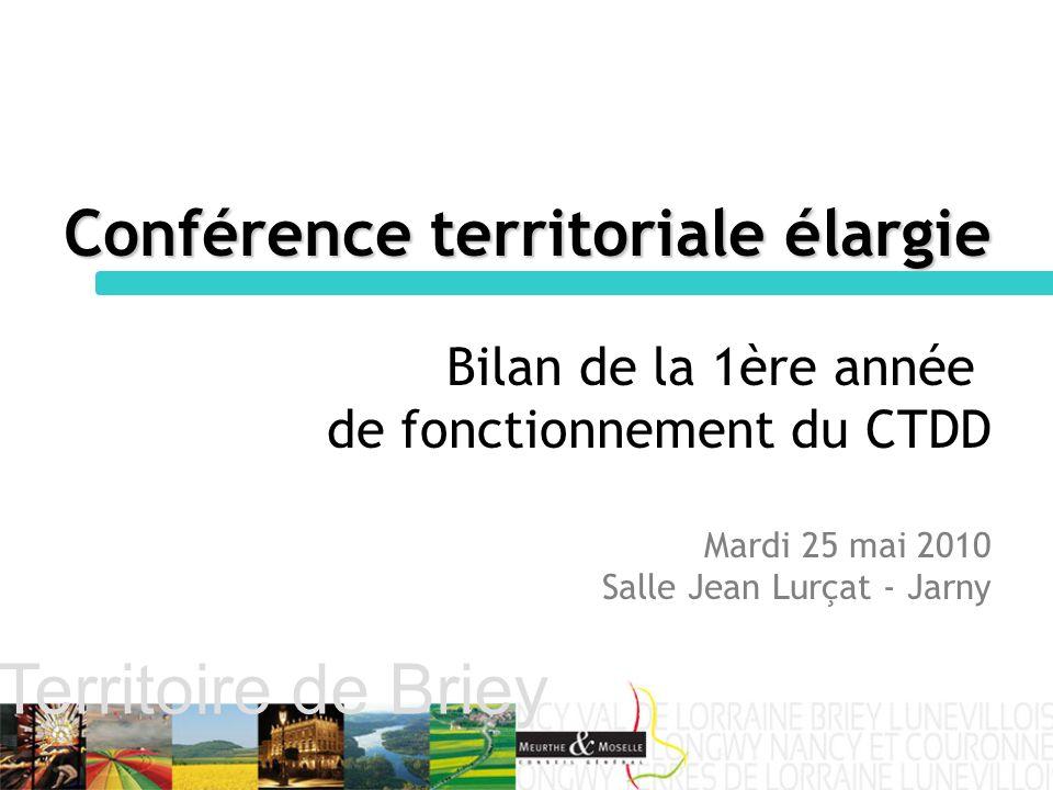 Territoire de Briey Conférence territoriale élargie