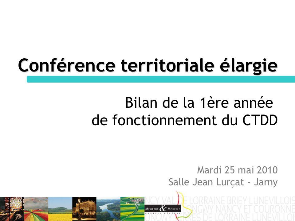 Conférence territoriale élargie