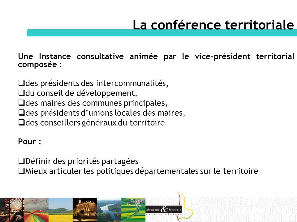 La conférence territoriale