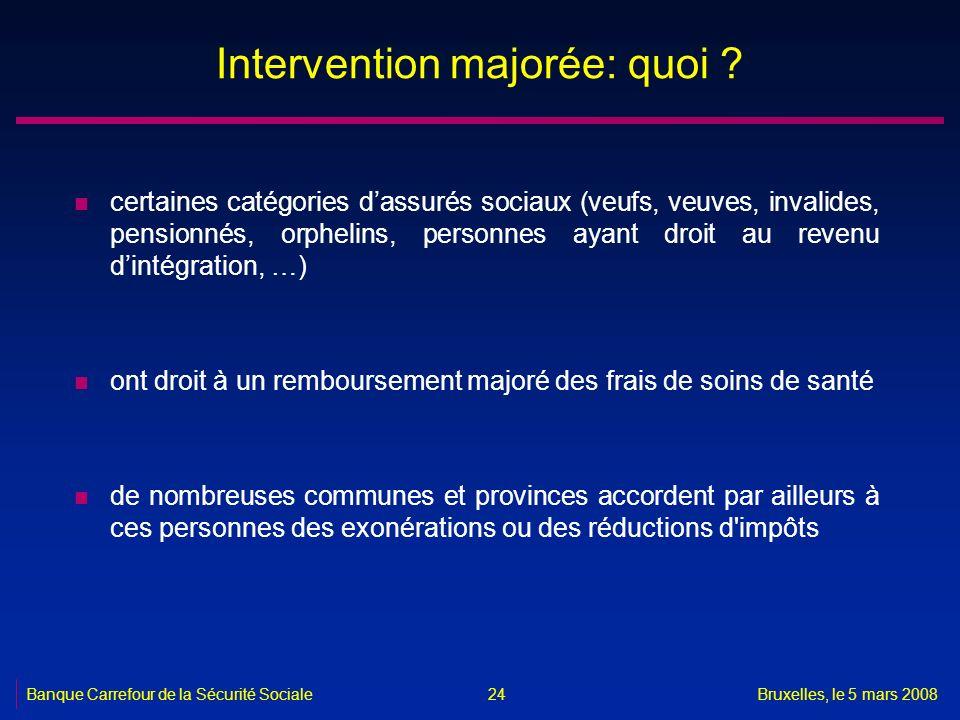 Intervention majorée: quoi