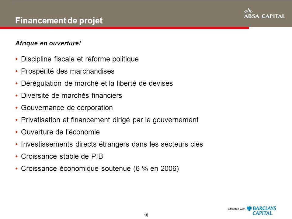 Financement de projet Discipline fiscale et réforme politique