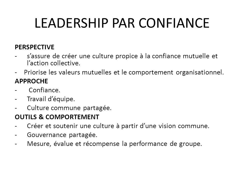 LEADERSHIP PAR CONFIANCE