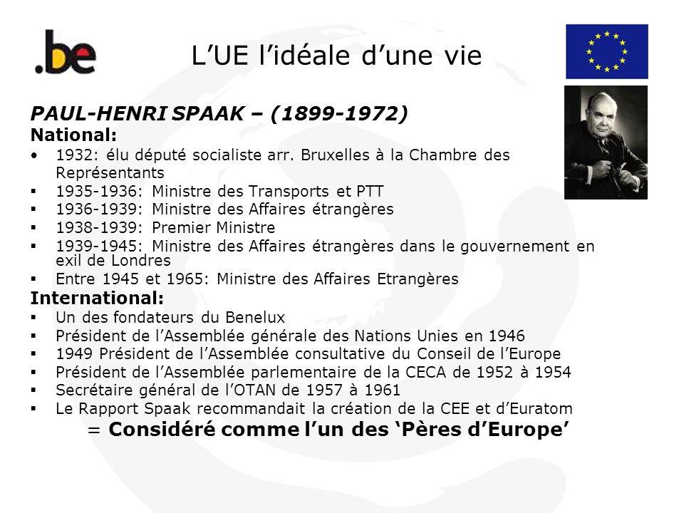 L'UE l'idéale d'une vie