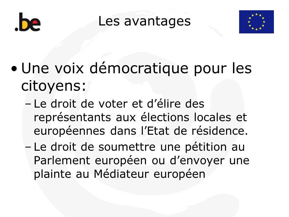 Une voix démocratique pour les citoyens: