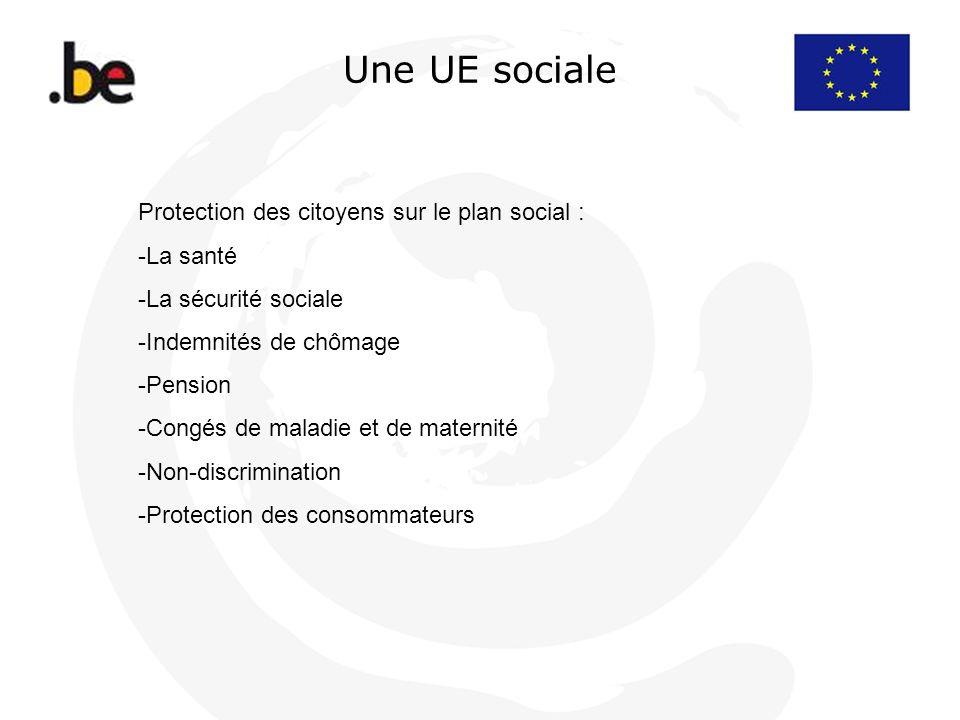 Une UE sociale Protection des citoyens sur le plan social : La santé
