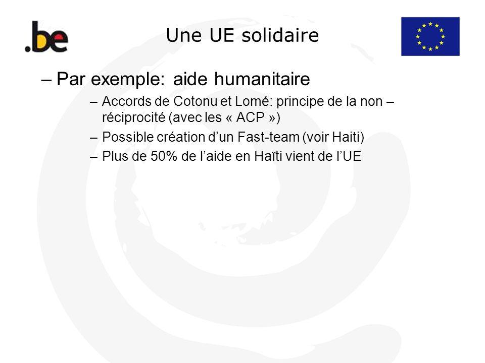 Par exemple: aide humanitaire