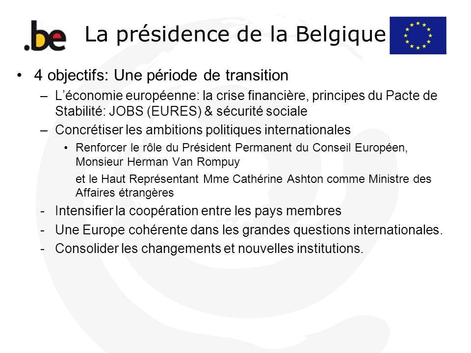 La présidence de la Belgique