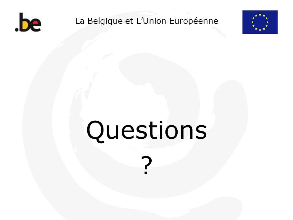 La Belgique et L'Union Européenne