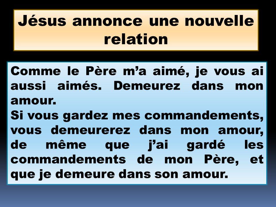 Jésus annonce une nouvelle relation