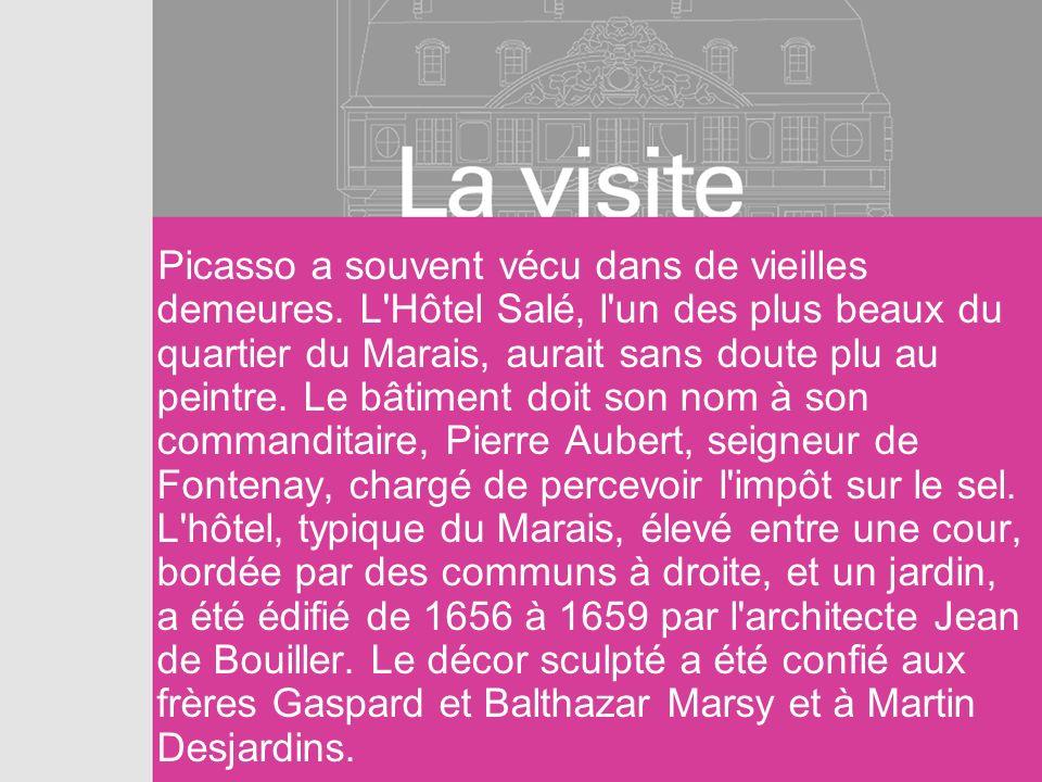 Picasso a souvent vécu dans de vieilles demeures