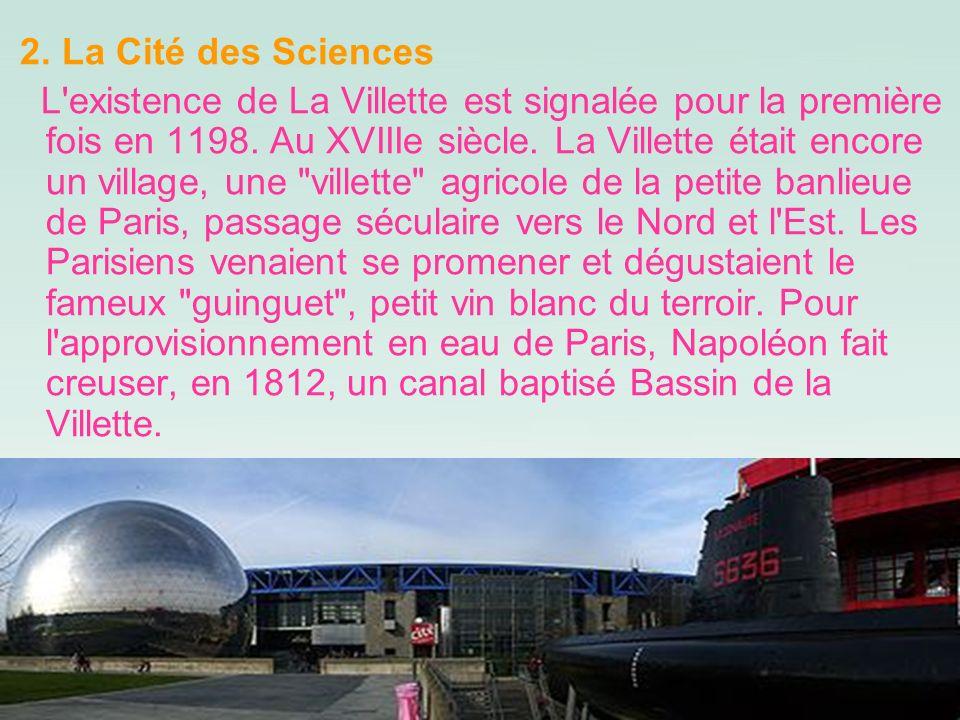 2. La Cité des Sciences