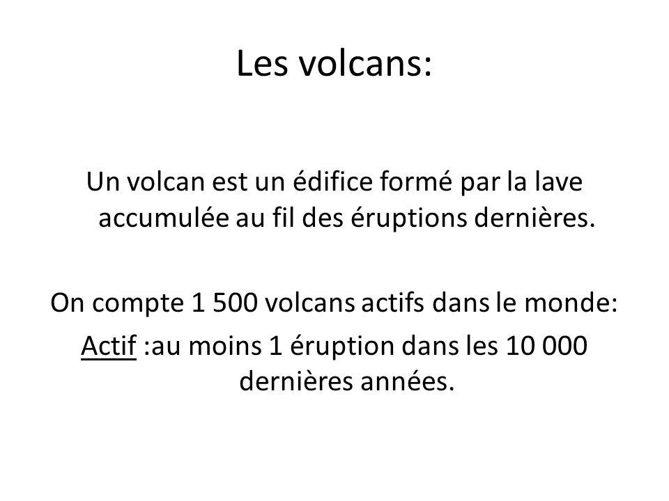 les volcans un volcan est un difice form par la lave accumul e au fil des ruptions derni res. Black Bedroom Furniture Sets. Home Design Ideas